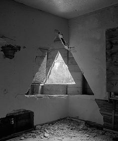 Two Triangles by James Nizam on Curiator, the world's biggest collaborative art collection. Land Art, Symbole Triangle, Spiritus, Wow Art, White Photography, Photography Triangle, Monochrome Photography, Creative Photography, Installation Art