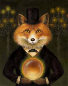 fox with glowing orb