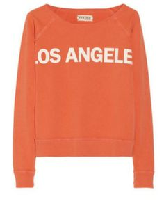 ELIZABETH AND JAMES Los Angeles Printed Cotton-Terry Sweatshirt