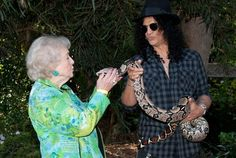 Betty White and Slash