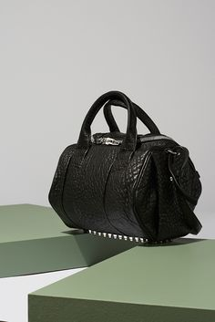 Our current crush is Alexander Wang Rockie Pebble bag.