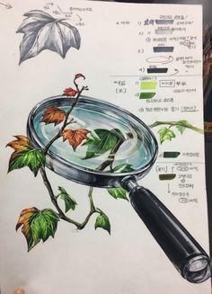 Marker Art, Copics, Colored Pencils, Pencil Drawings, Art For Kids, Design Art, Watercolor, Fine Art, Illustration