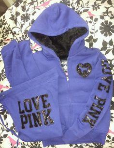 Victoria's Secret PINK Hoodie & Boyfriend Pants Set