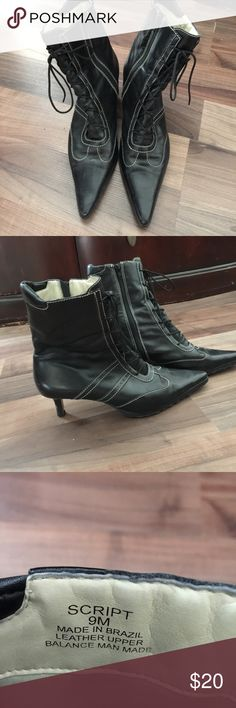 Leather ankle boots Leather ankle boots.  Made in Brazil. Easy Zipper opening Script Shoes Ankle Boots & Booties