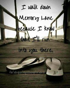 I walk down memory lane...