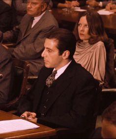 "Al Pacino and Diane Keaton "" The Godfather part II"""