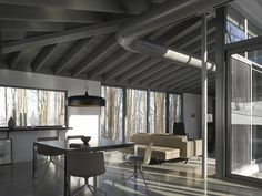 v2com newswire | Residential Architecture | Bromont House - Paul Bernier Architecte  @James Brittain