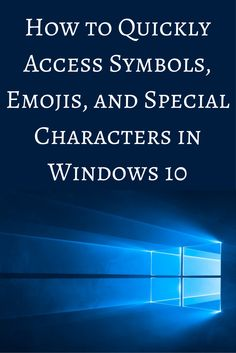how to use special keys windows 10