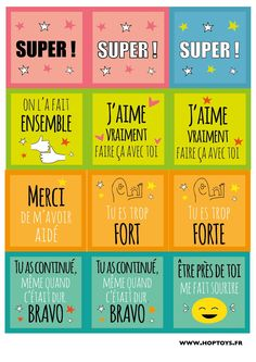 Compliments et encouragements. Education Positive, Communication Positive, French Class, Cycle 3, Student Motivation, Craft Projects For Kids, Teaching French, French Language, Compliments