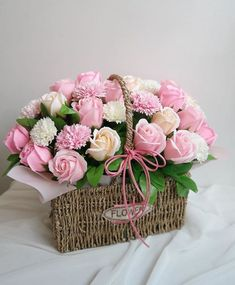 Super Birthday Flowers Bouquet Beautiful Roses Gift Ideas The Effective Pictures We Offer You Ab Basket Flower Arrangements, Beautiful Flower Arrangements, Floral Arrangements, Ikebana, Happy Birthday Flower, Birthday Bouquet, Birthday Roses, Flower Box Gift, Flower Boxes