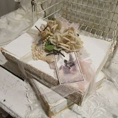 Book bundle large white painted books shabby by AnitaSperoDesign