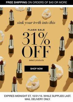 Avon Flash Sale October 31st! youravon.com/amycasa