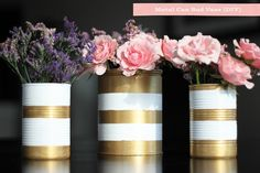 Metal Can Vases