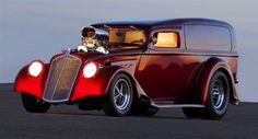 1933 Willys pro street style sedan delivery.