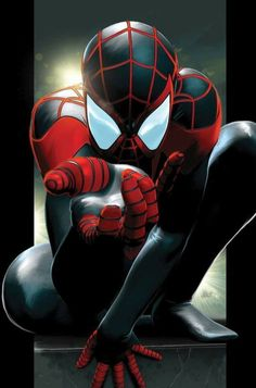 Spiderman is Half-Black and Half Latino now and his name is Miles Morales. Yep, I was a little shocked too. - Visit to grab an amazing super hero shirt now on sale! Amazing Spiderman, Black Spiderman, Spiderman Noir, Miles Spiderman, Spiderman Kunst, Miles Morales Spiderman, Ultimate Spider Man, Marvel Comics, Marvel Art