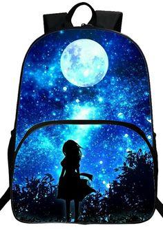 7b3a5290268e Cool 2016 New Oxford Printing Starry Sky Black Babys Bookbag Womens  Backpacks Men School Bag Kids Mochila Boys Bags