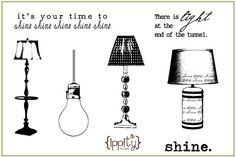 Ippity Stamps  shine shine shine by randomacts101 on Etsy, $18.00