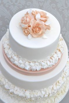 peachy dreams wedding cake