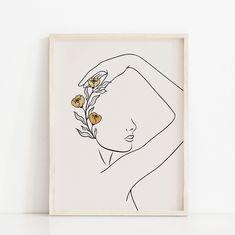 Face Line Drawing, Single Line Drawing, Art Visage, Boho Dekor, Art Mural, Art File, Face Art, Woman Face, Oeuvre D'art