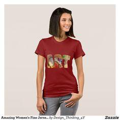 Amazing #Women's Fine Jersey #T-Shirt In Art Design