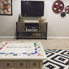 So I knew I wanted to turn this coffee table into a game table of some sort, since it was no longer in my front room but now in my game room in the basement.  But I wasn't sure how or what I …