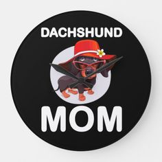 Dog Gift | Dachshund Mom Lovely Large Clock dachshund crafts, dachshund funny memes, dachshund names #dachshundbaub #dachshundshop #dachshundsmaketheworldbetter, back to school, aesthetic wallpaper, y2k fashion