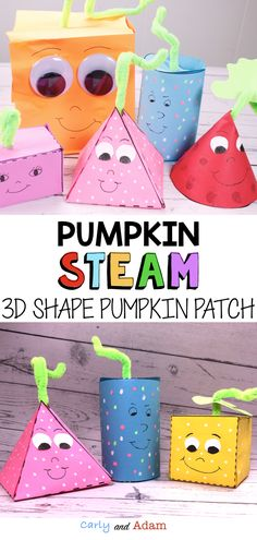Pumpkin STEAM Activity: Integrate pumpkin math and pumpkin writing with this engaging Pumpkin STEAM activity. The activity works as a companion to the book Spookley The Square Pumpkin by Joe Toriano. Students learn about shapes and build their very own Stem Learning, Student Learning, Teaching Math, Steam Activities, Writing Activities, Maths 3e, Stem Projects, School Projects, School Ideas