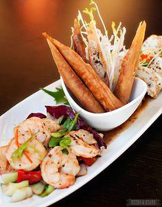 Shrimp Appetizer Plate at Ko Restaurant in Maui