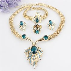 Cheap jewelry settings and mountings, Buy Quality jewelry snap sets directly from China jewelry nj Suppliers: Three Color Water Drop Pendant Necklace 14K Gold Plated Jewelry Sets For Women 2014 Fashion Jewelry Free Shipping Wholes