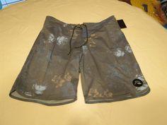 Quiksilver boardshorts 33 board swim shorts trunks Men's Floral Storm 33x19 NEW #Quiksilver #BoardShorts