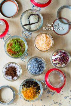 Easy and unique Flavored Sugar Recipes that make wonderful edible gifts. These flavored sugar recipes will provide fun and affordable gifts to your favorite