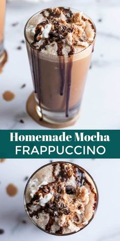 Homemade Mocha Frappuccino with Sea Salt - - Looking for a sweet iced coffee drink that's healthy and budget friendly? Try this Dark Chocolate Sea Salt Mocha Frappuccino. This will cool you off without leaving you penniless! Blended Coffee Recipes, Blended Coffee Drinks, Coffee Drink Recipes, Starbucks Recipes, Blended Mocha Recipe, Frozen Coffee Drinks, Fondue Recipes, Copycat Recipes, Healthy Coffee Drinks