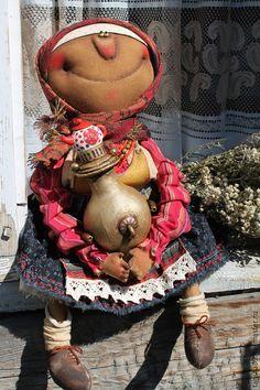 Купить Баба с самоваром! - разноцветный, текстильная кукла, ароматизированная кукла, интерьерная кукла, народный стиль