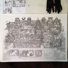 So close to finishing the ink! Have had to take more time away from it than I'd hoped due to other gigs, but I gotta get them dollas somehow 💰 colors gonna take ages but hoping to have her ready for xmas shopping season. #edgarallanpoe #poe #illustration #cutaway #crosssection #architecturelovers #architecture #drafting #wip #workinprogress #drawing #detailing #linework #cardenillustration #lpotl #mydesk #myfavoritemurder #jigsawpuzzle #jigsaw #goth #gothicliterature #murdercastle…