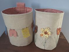 EL PETIT TALLER: TUTORIAL: fabric baskets - cistells de roba
