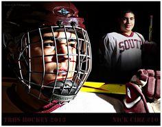 Ice Hockey Senior Photos Photo Portrait School Hockey Goalie, Hockey Teams, Hockey Players, Ice Hockey, Hockey Stuff, Hockey Senior Pictures, Senior Photos, Senior Portraits, Team Photos