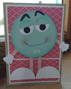 M & M punch art birthday card. www.magpiecreates.com Birthday M & M_magpiecreates