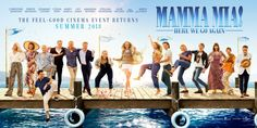 Here We Go Again Movie 2018 Musical/Comedy Mamma mia 2018 Mama MIA 2 Sophie finds out more about her mother's past while seeking guidance on how t. Mamma Mia, New Trailers, Movie Trailers, Drama, Pierce Brosnan, Romance, Lily James, Film Review, Universal Pictures