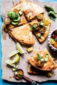 Quesadillas With Applewood Smoked Mango Pork recipe by Tieghan Quesadillas, Pork Recipes, Mexican Food Recipes, Healthy Recipes, Smoker Recipes, Easy Recipes, Recipies, Tostadas, Kitchens
