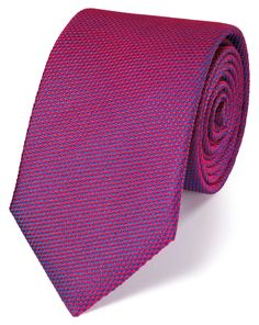 Buy our Magenta silk plain classic tie exclusively from Charles Tyrwhitt of Jermyn Street, London. Charles Tyrwhitt, Magenta, Tie, Classic, Stuff To Buy, Products, Fashion, Tie Dye Outfits, Derby