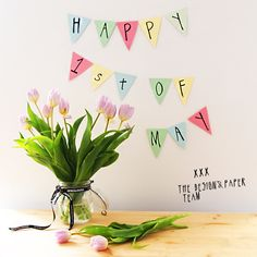 Happy First Day of May, Everyone! |https://www.designandpaper.com