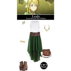 Leafa - Sword Art Online by closplaying on Polyvore featuring River Island, Timberland, Rip Curl, Rebecca Minkoff, Jules Smith and Liz Claiborne