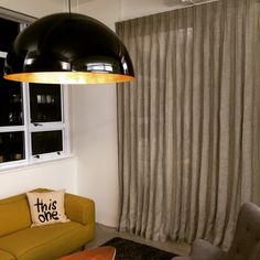 Love #linen #curtains. These are made from a @hemptech fabric