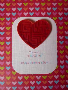 """a-""""maze""""-ing valentine cards"""