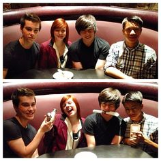 Jeremy and some of the Incredible Crew cast. i love the bottom picture! Photo by jeremy_shada