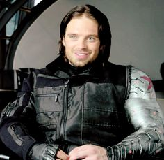 Sebastian Stan as Bucky. << HERE IS A GIF TO GIVE YOU LIFE
