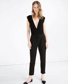 Image 1 of DRAWSTRING TROUSERS from Zara