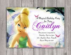 TinkerBell Invitation for Birthday Party - Tinker Bell Invite - Printable Digital File