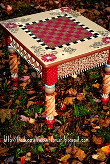 I've seen random old tables thrown out awaiting its next life in the junkyard- why not paint it something super cool like a chess board and use it or re-gift it!