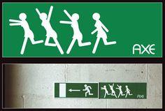 Axe signe une magnifique campagne de street basée sur la signalétique existante